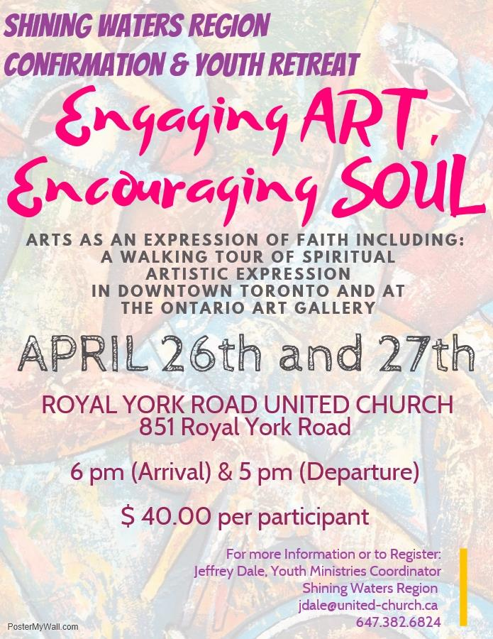 Poster for Engaging Art Encouraging soul