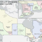 outline of regional council borders on map of canada