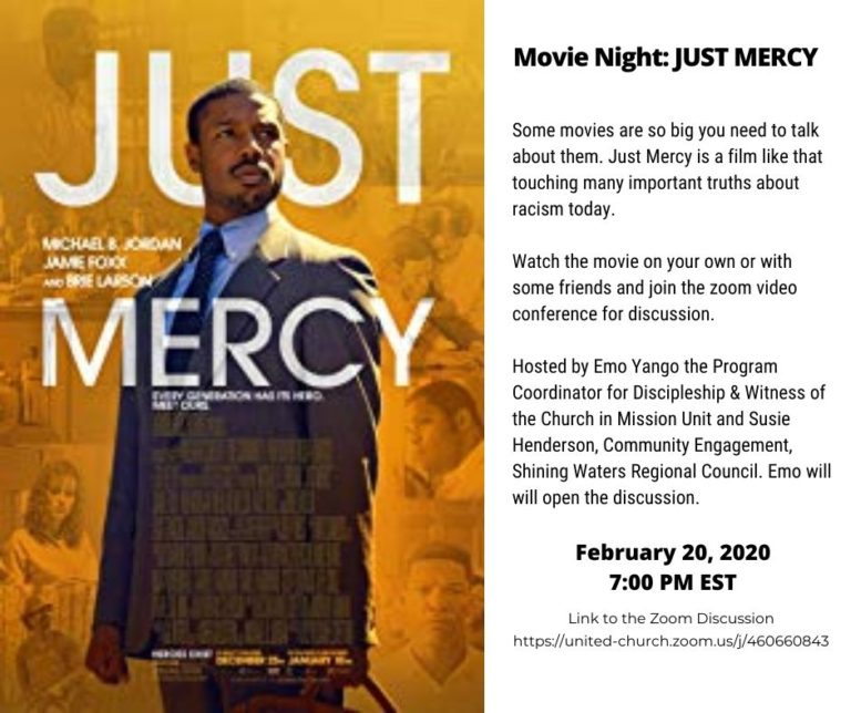 Movie Night: A Discussion of Just Mercy