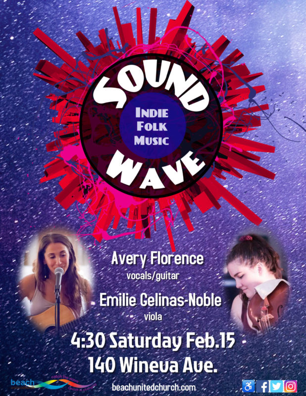 Poster with pictures of both Avery Florence and Emilie Gelinas-Noble, musicians
