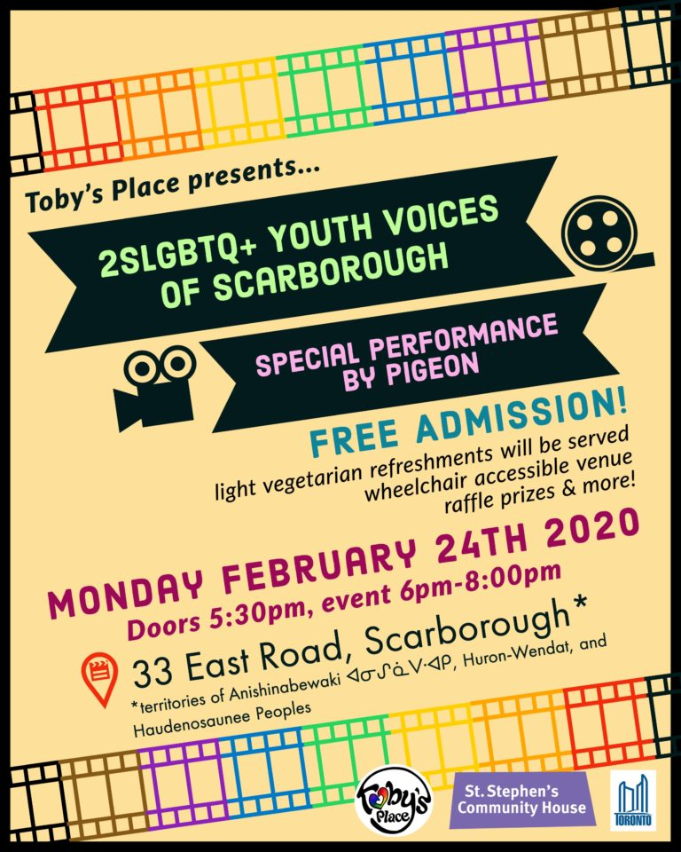2SLGBTQ+ Youth Voices of Scarborough – Film Launch