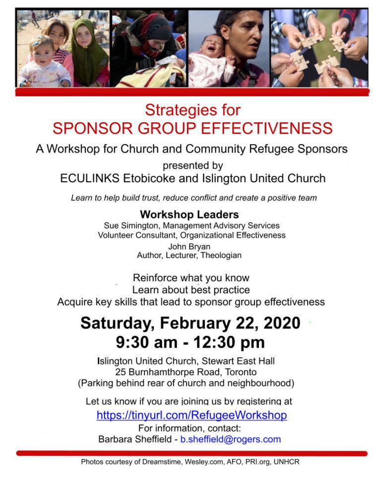 Strategies for  Refugee Sponsor Group Effectiveness
