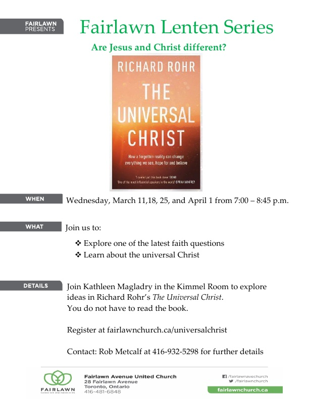 Lenten Study Series: The Universal Christ