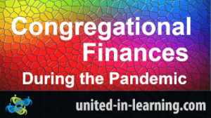 Title card saying Congregational Finances during the pandemic