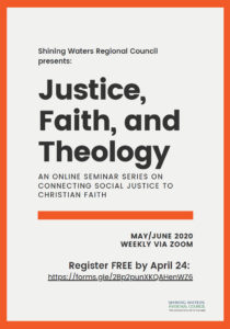 Justice Faith and Theology flyer
