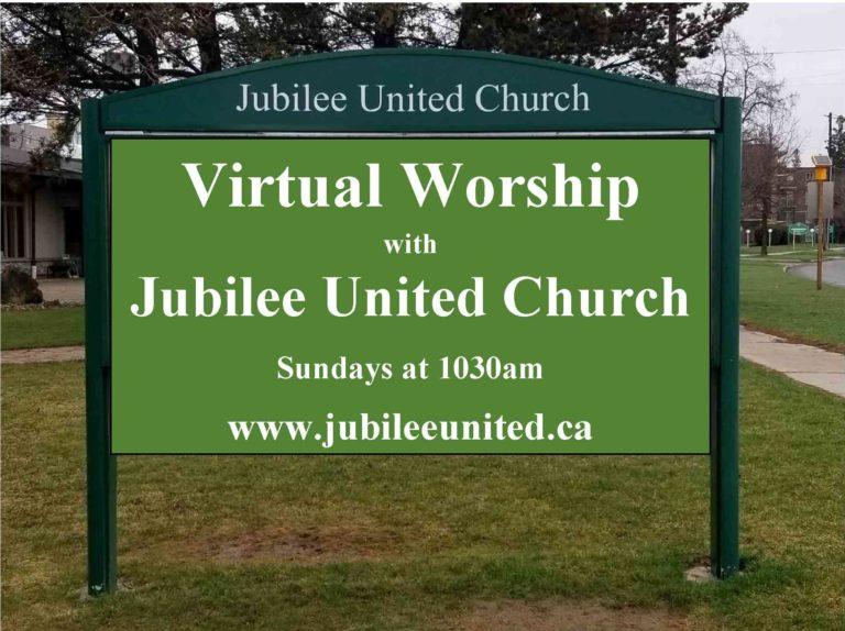 Sunday Virtual Worship – Jubilee United Church