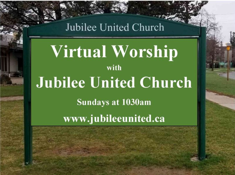 Sign advertising Jubilee United Church