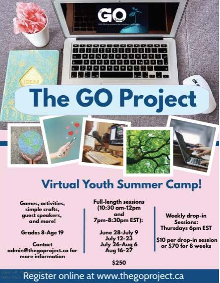 The GO Project Virtual Youth Summer Camp