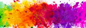 rainbow splashes of colour