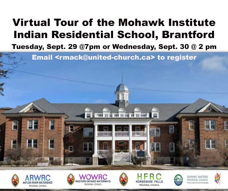 Mohawk Institute image with Virtual Tour Title