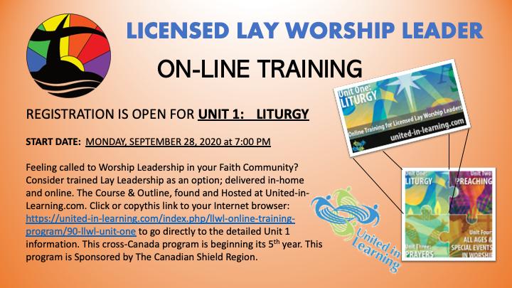 Online Licensed Lay Worship Leader program