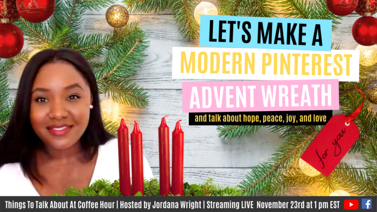 WATCH LIVE: Advent and Chat | DIY Modern Pinterest Wreath