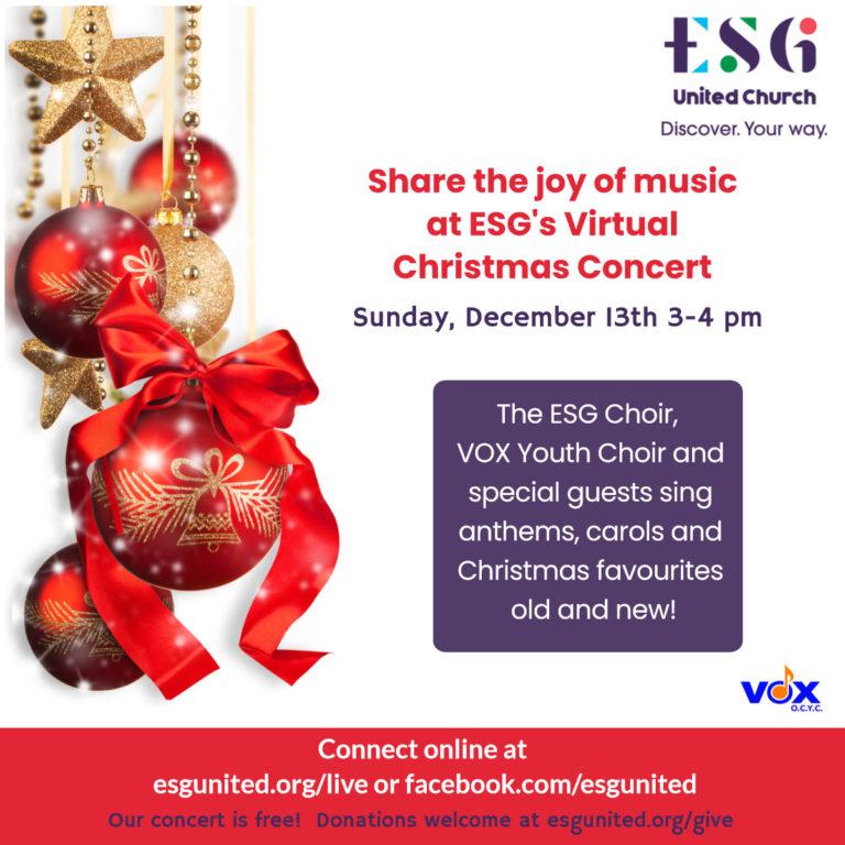 ESG Virtual Christmas Concert