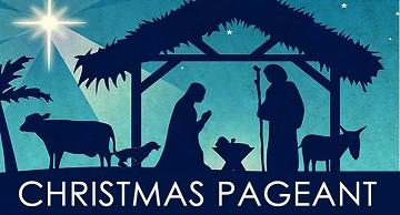 A silhouette of the nativity scene