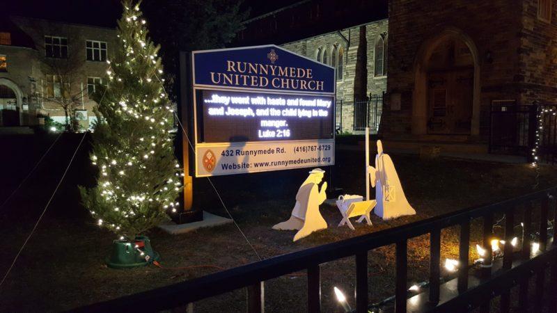Runnymede United Church manger scene