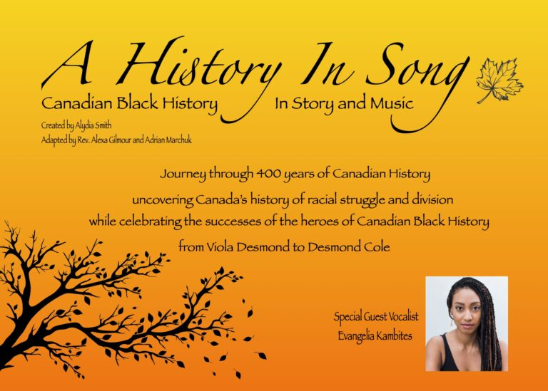 Canadian Black History, in Story & Song