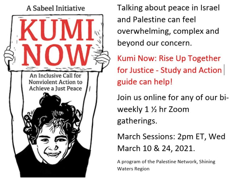 Kumi Now: an inclusive call for non-violent action to achieve a just peace