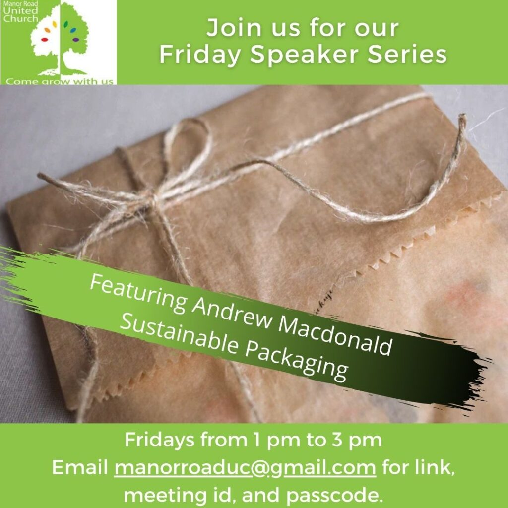 Andrew Macdonald, Sustainable Packaging
