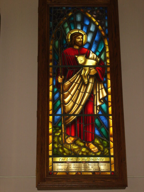 The Good Shepherd stained glass window