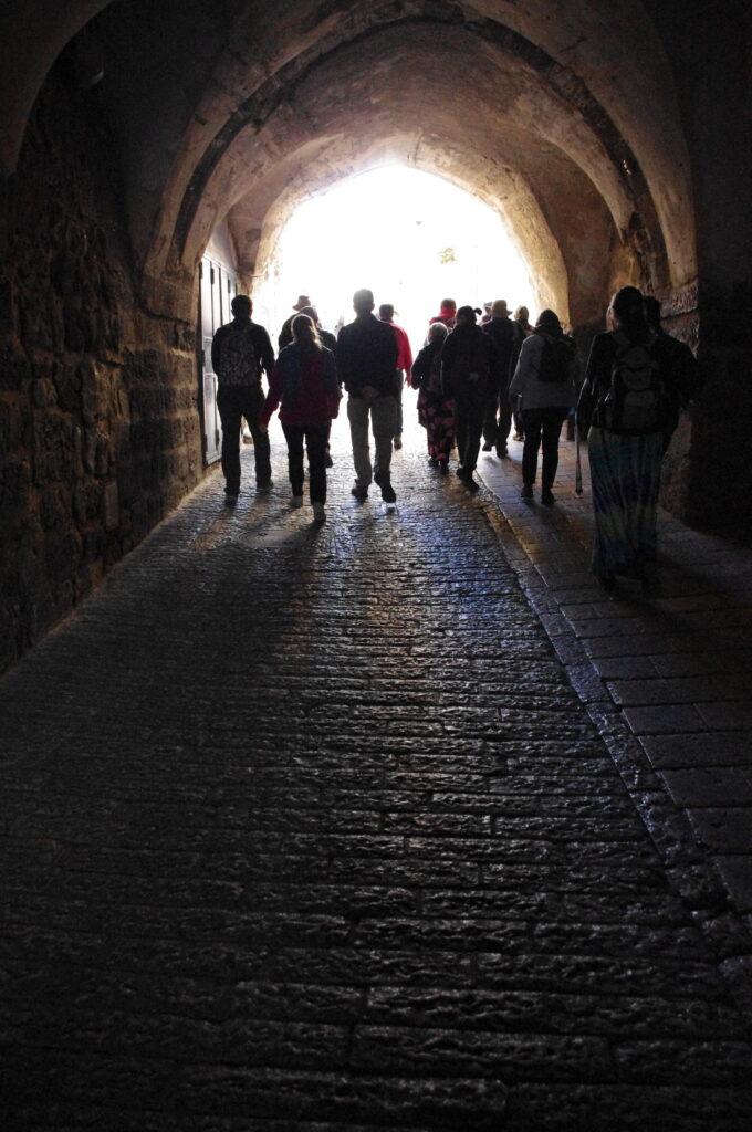 walking into old Jerusalem
