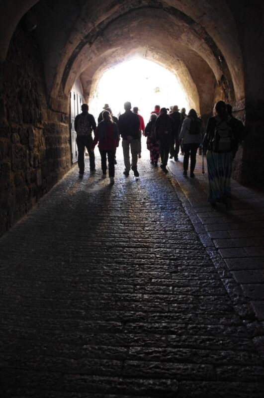walking into old Jerusalem