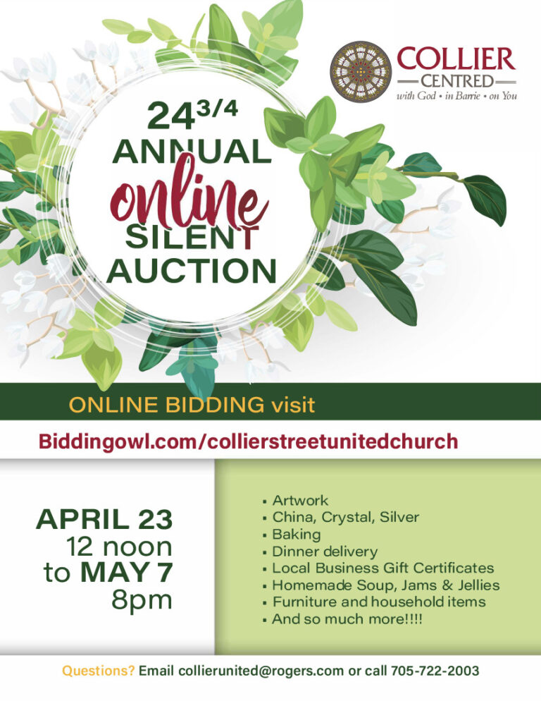Collier Street United Church Online Auction