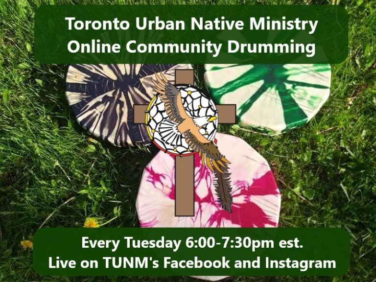 Toronto Urban Native Ministry Online Community Drumming