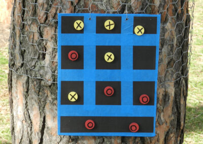 game of tick tack toe in a tree