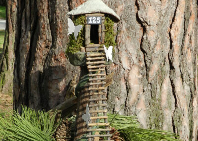 fairy house from twigs in a tree