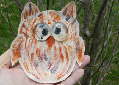 Owl crafted from paper