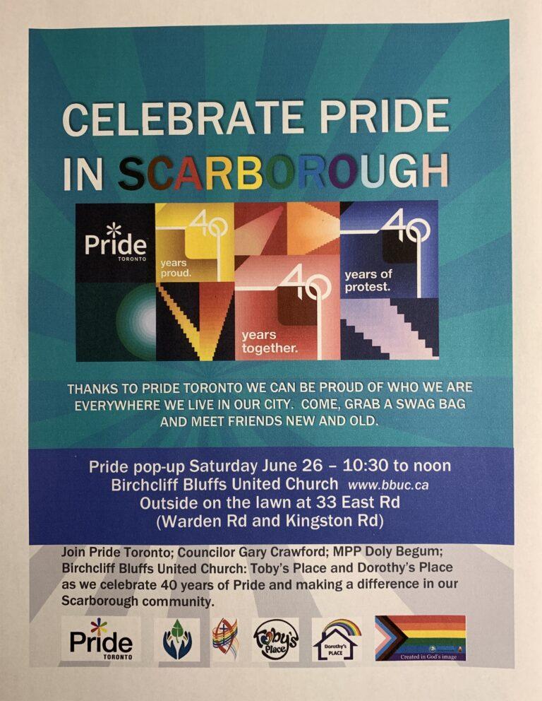Pride Toronto – comes to Scarborough