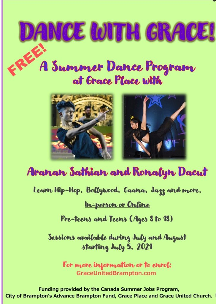 Dance with Grace – August 16 to September 3