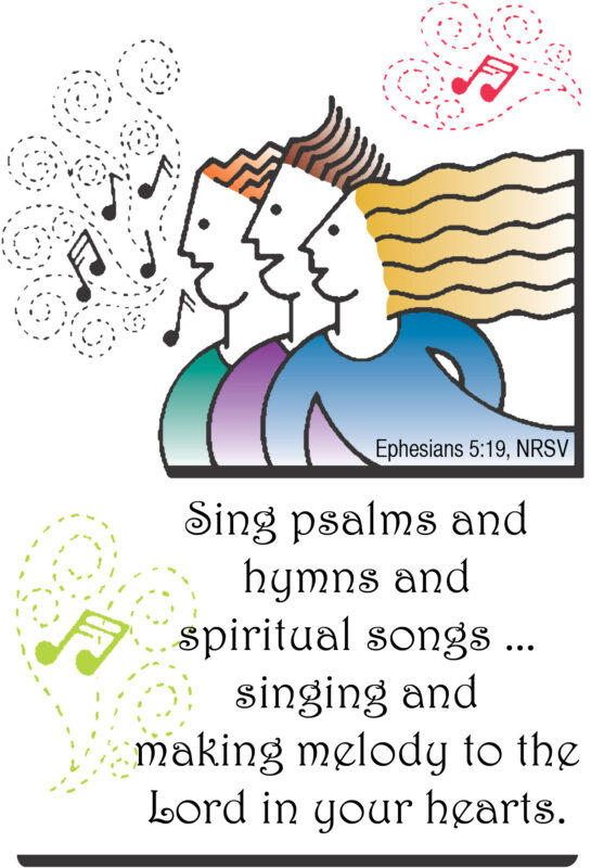 graphic of three singers