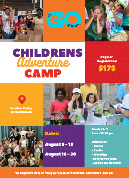 Humber Valley Go Camp poster
