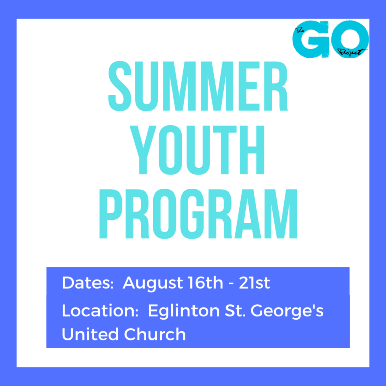 Youth GO Project at Eglinton St. George's United Church