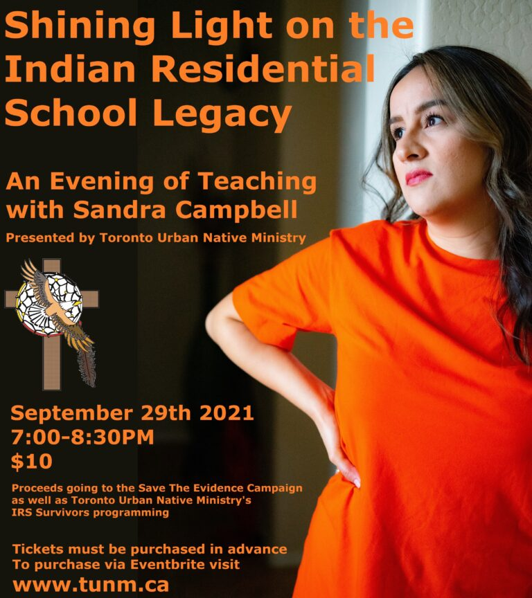Shining Light on the Legacy of Indian Residential Schools-An online evening of Teachings with Sandra Campbell