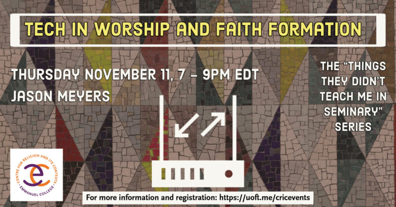 Technology in Worship and Faith Formation